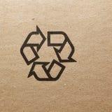 Точный конец-вверх изображения символа черноты grunge хрупкого на картоне Стоковое фото RF