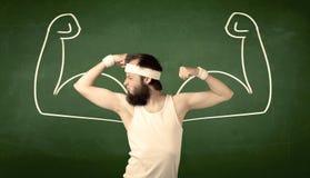 Тощий студент хочет мышцы Стоковое Фото