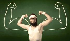 Тощий студент хочет мышцы Стоковые Фотографии RF
