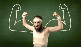 Тощий студент хочет мышцы Стоковые Изображения RF