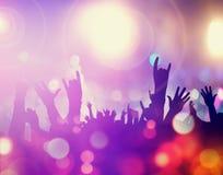 Толпа в концерте Стоковые Фото