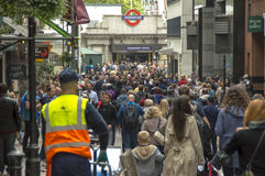 Толпа в подполье в Лондоне Стоковое Изображение RF