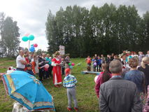 Толпа в празднике Стоковые Изображения RF