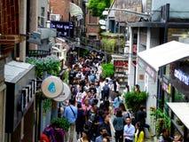 Толпа в Tianzifang стоковые изображения rf
