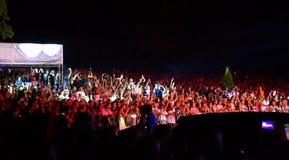 Толпа концерта возвышенная Стоковая Фотография