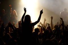Толпа концерта Стоковые Фотографии RF