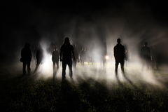 Толпа на ноче Стоковая Фотография RF