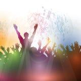 Толпа партии Стоковое Изображение