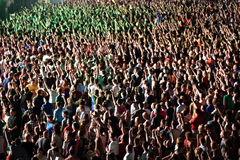 толпа согласия Стоковые Фото