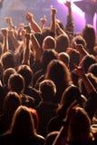 Толпа тряся на концерте стоковая фотография