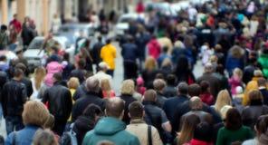 Толпа улицы Стоковая Фотография