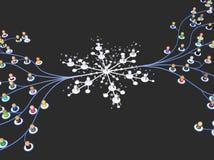 Толпа шаржа, замораживание системы иллюстрация штока