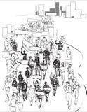 Толпа бесплатная иллюстрация