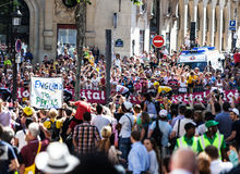 Толпа Le Тур-де-Франс стоковое фото