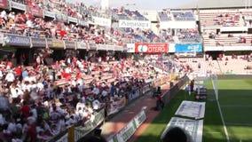 Толпа Timelapse футбольного стадиона видеоматериал