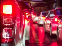 Толпить автомобиль в ноче Стоковые Фотографии RF