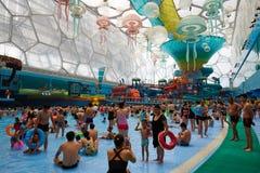 Толпить аквапарк, Пекин Стоковое Фото