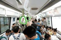 Толпить китайское метро стоковые фотографии rf