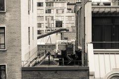 Толпить крыша Нью-Йорка Стоковое Изображение RF