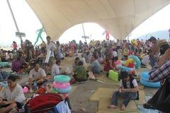 Толпить парка портового района Dameisha В Шэньчжэне, КИТАЕ, АЗИИ Стоковое Изображение