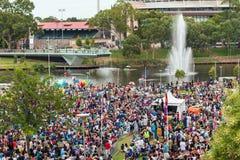 Толпить старший парк в Аделаиде стоковые изображения rf