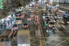 Толпить Mongkok стоковые фотографии rf