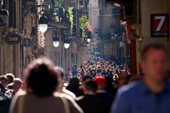 Толпы Барселоны стоковое фото