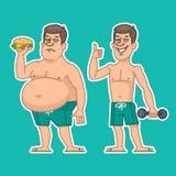 Толстые и тонкие характеры человека Стоковое Изображение