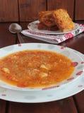 Толстый суп капусты и картошек Стоковая Фотография RF