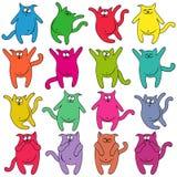 16 толстых смешных котов Стоковая Фотография