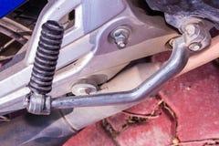 Толчок ноги мотоцикла Стоковое Фото