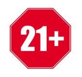 Только 18+ вектор 21+ Стоковое Изображение