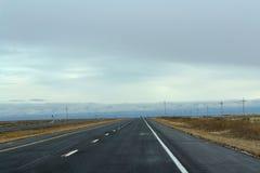 Только прямая дорога Стоковая Фотография