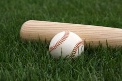 трава бейсбольной бита Стоковое Фото