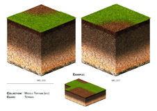 трава блока ландшафта 3D Стоковое Фото