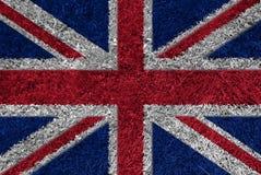 трава Великобритания флага Стоковое Изображение