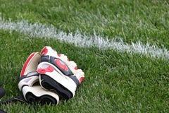 трава голкипера перчаток Стоковые Фото