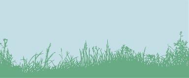 Трава горизонтальная картина безшовная Стоковое Изображение