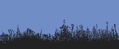 Трава горизонтальная картина безшовная Иллюстрация штока