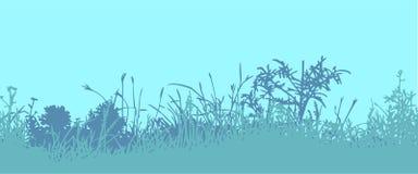 Трава горизонтальная картина безшовная Стоковая Фотография RF