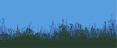 Трава горизонтальная картина безшовная Бесплатная Иллюстрация