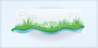 Трава и река Стоковое Изображение RF