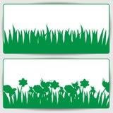 Трава и цветки Иллюстрация штока