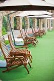 Трава отдыха зонтика стула Стоковое фото RF