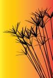 Трава силуэта вектора для предпосылки Стоковое Изображение RF