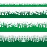 Трава силуэта черная Стоковое Изображение
