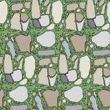 трава flagstone безшовная Стоковое Изображение