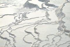 травертин террас pamukkale Стоковые Фотографии RF