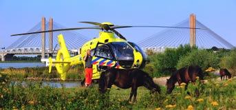 травма вертолета durtch Стоковые Изображения RF