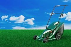 Травокосилка 3d травы стоковое фото